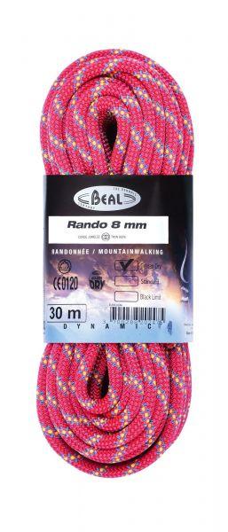 Beal Rando 8Mm 20M Golden Dry