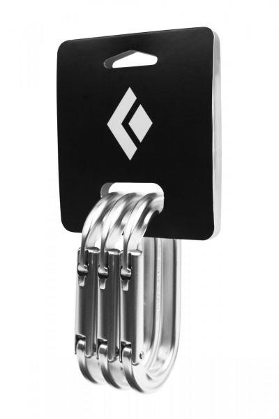 Black Diamond Oval Keylock Carabiner 3-Pack