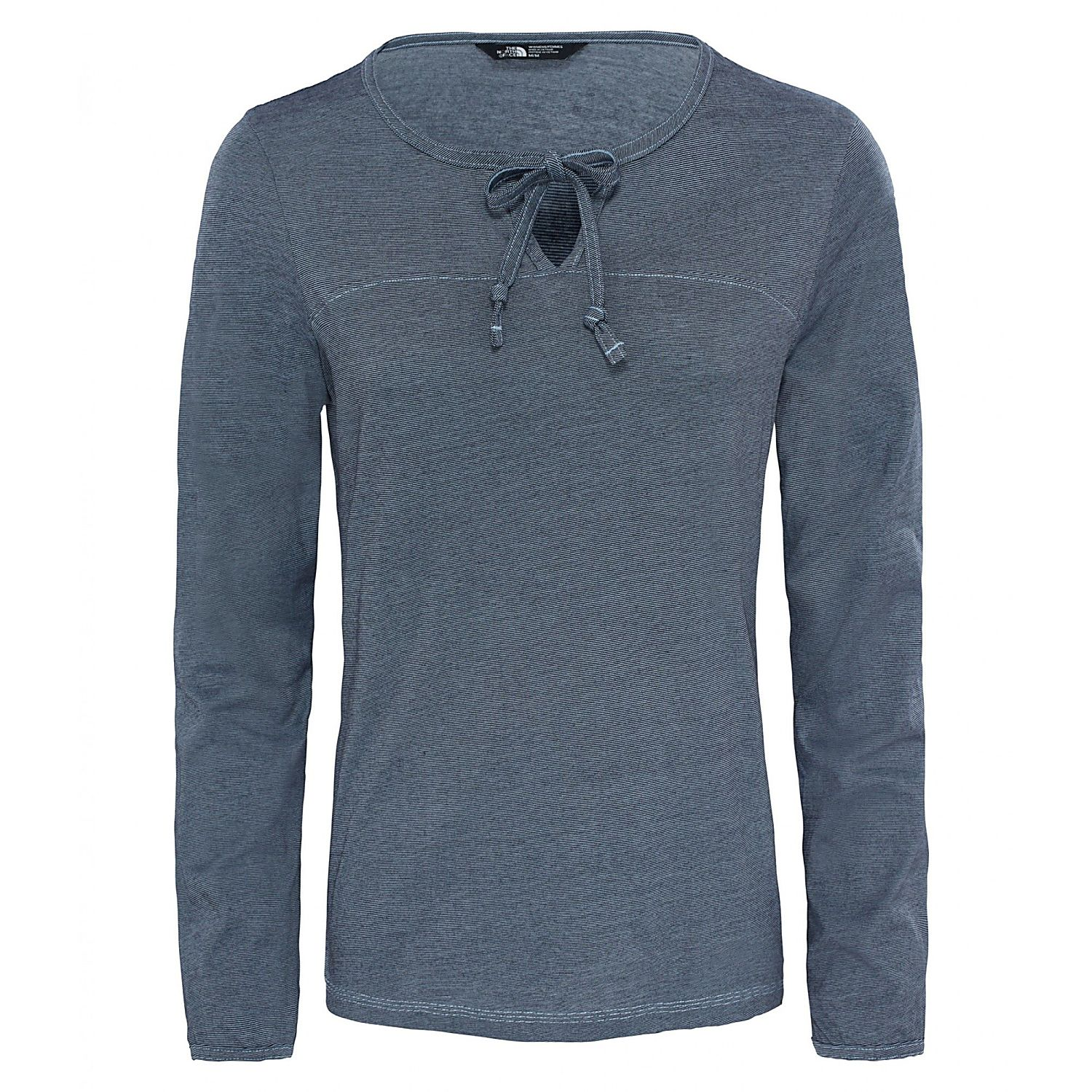 The North Face Womens DAYSPRING L/S TEE, Urban Navy -Chambray Blue Stripe, Mens